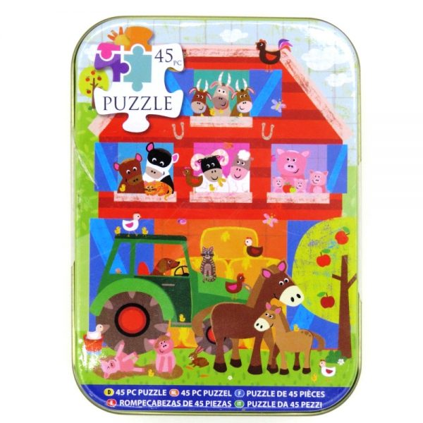 Jigsaw Puzzle in a Tin Down On the Farm