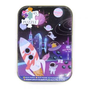 Jigsaw Puzzle in a Tin Outer Space