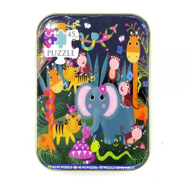 Jigsaw Puzzle in a Tin Jungle Animals