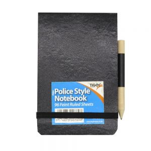 Police Style Flip Notebook Front