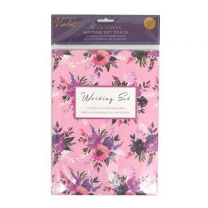 Design by Violet Writing Pouch Wild Roses Front