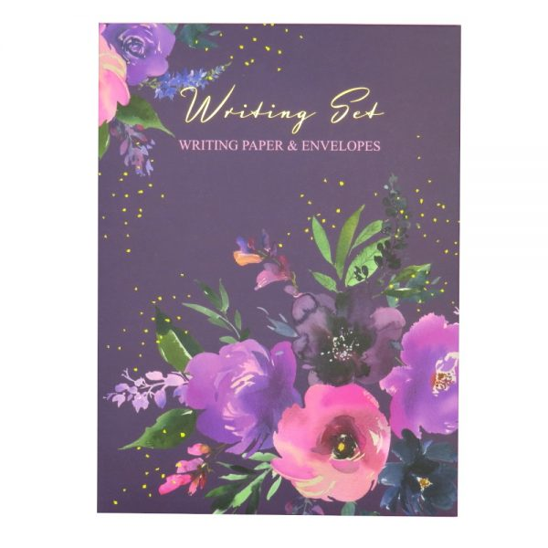 Design by Violet Writing Box Set Wild Roses Front
