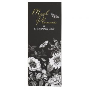 DBV Meal Planner and Shopping List Botanical Etchings Front