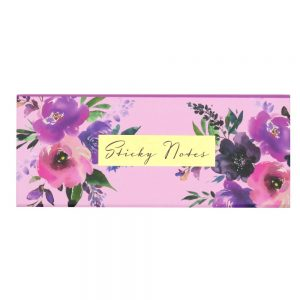 DBV Sticky Notes Box Wild Roses Front