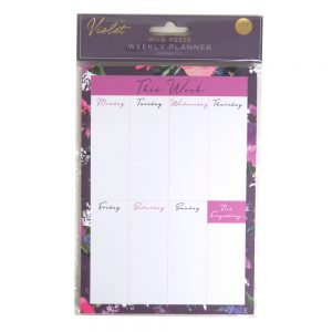 DBV Weekly Planner Wild Roses Front