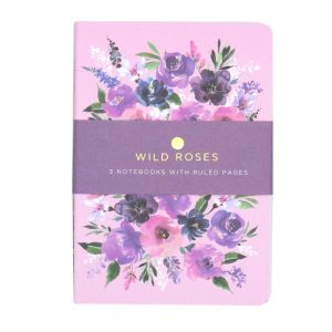 DBV A6 Notebooks 3 Pack Wild Roses Front