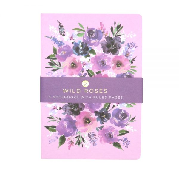 DBV A5 Notebooks 3 Pack Wild Roses