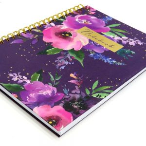 DBV A4 Wire Notebook Wild Roses Front 2