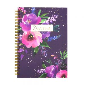 DBV A4 Wire Notebook Wild Rose