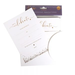 DBV Wedding Invitation Cards and Env Front 2