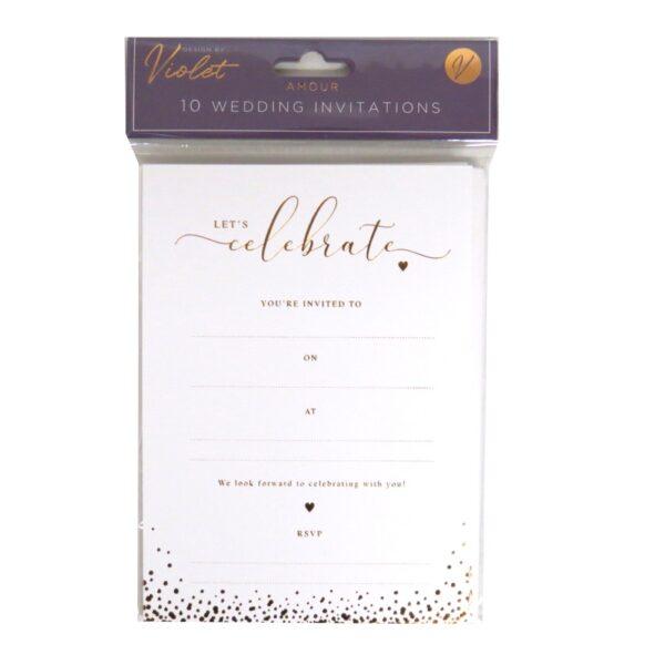 DBV Wedding Invitation Cards and Env