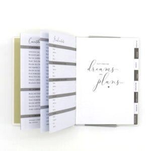 DBV Wedding Planner A5 Notebook Front 4