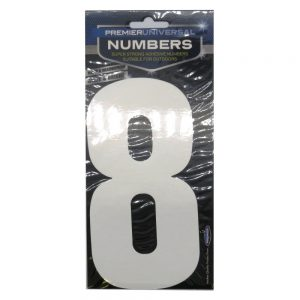 Waste Bin House Number 8 Stickers