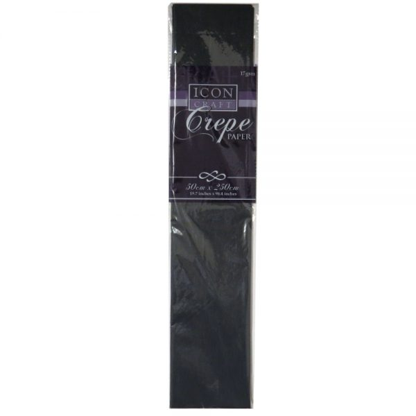 Icon Craft Crepe Paper Black Front 2