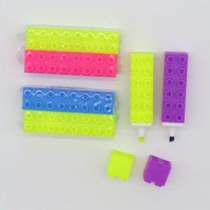 Gogopo Building Block Highlighter Pens