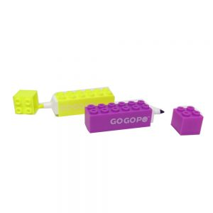 Gogopo Building Block Highlighter Pens Front 4