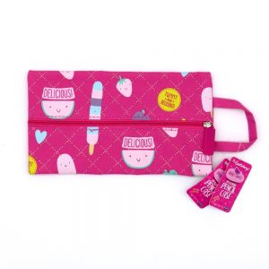 Berry Sweet Flat Pencil Case