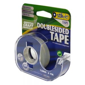 Double Sided Tape with Dispenser 12mm x 7m Front 2