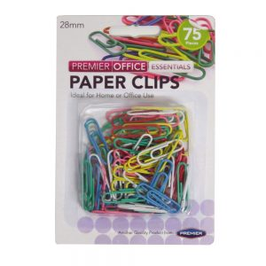 Premier Coloured Paper Clips 28mm