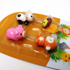 Cute Animals 3D Erasers Front 2