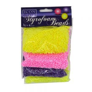 Styrofoam Beads 4 Colours