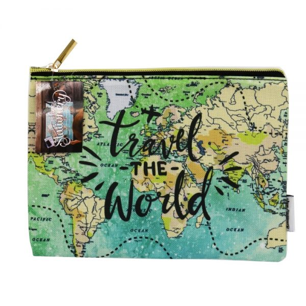 Travel The World Zip Pouch