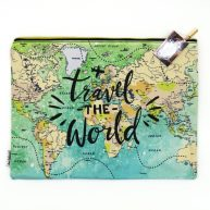 Travel The World Zip Pouch Large