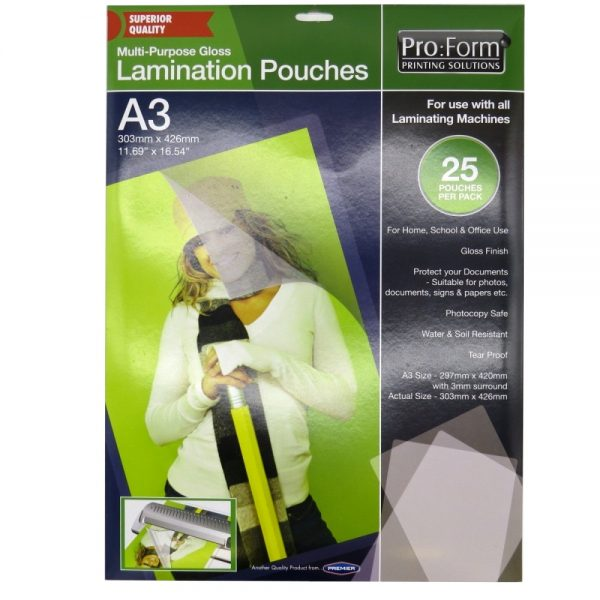 Pro Form A3 Laminating Pouches