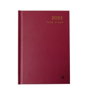 2022 A6 Page a Day Diary CB Red Front