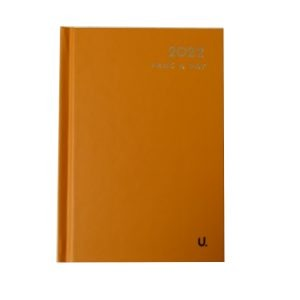 2022 A6 Page a Day Diary CB Orange Front