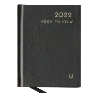 2022 Pocket Week to View Diary Black Front