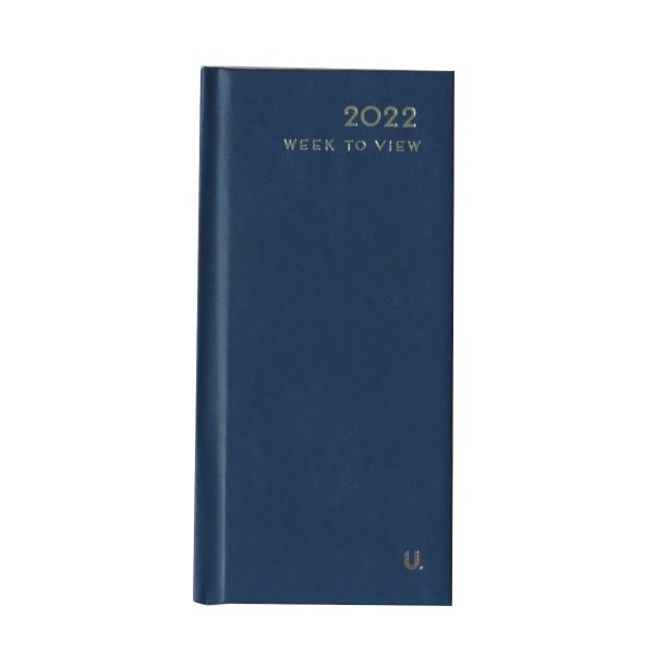 2022 Slim Week to View Diary D Blue Front