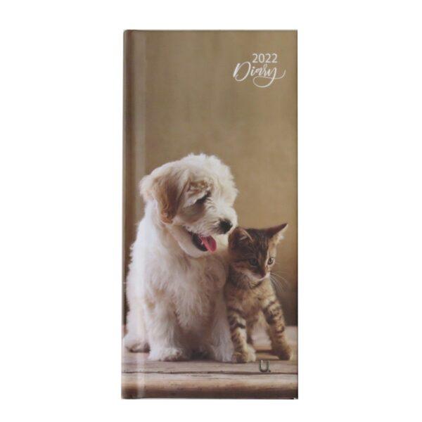 2022 Slim Week to View Diary Puppy Kitten Frontt