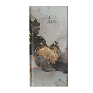 2022 Slim Week to View Diary Marble Front