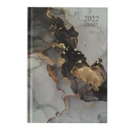 2022 A5 Week to View Diary Marble Front
