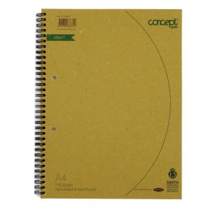 Concept Green A4 Wire Notebook