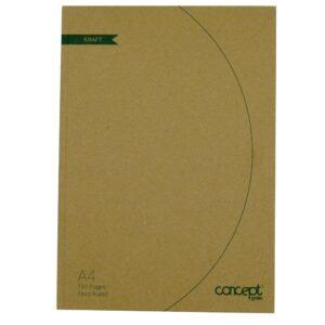 Concept Green A4 Hard Cvr Notebook
