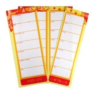 Paper Things A5 Shopping List and Meal Planner Stars Design Notepad Open