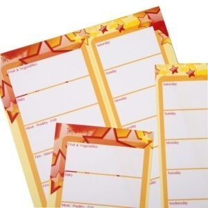 Paper Things A5 Shopping List and Meal Planner Stars Design Notepad Angle 3