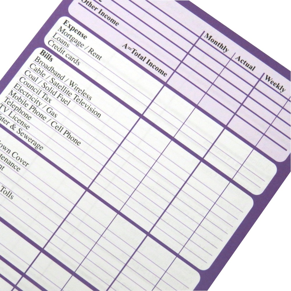 A5 Budget Finance Money Planner Notepad