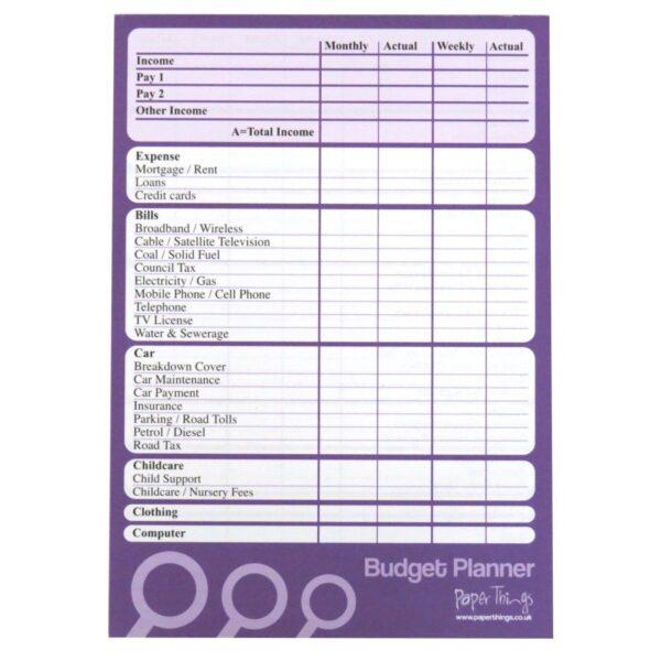 A5 Budget Finance Money Planner Notepad