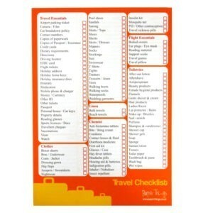 Travel Holiday Checklist Planner Notepad