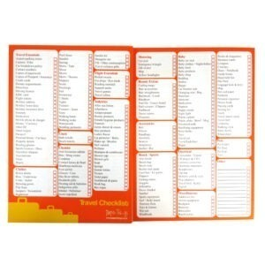 Paper Things A5 Holiday Checklist Notepad Front 3