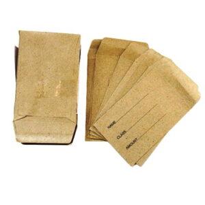 Dinner Money Manilla Envelopes Pack of 50