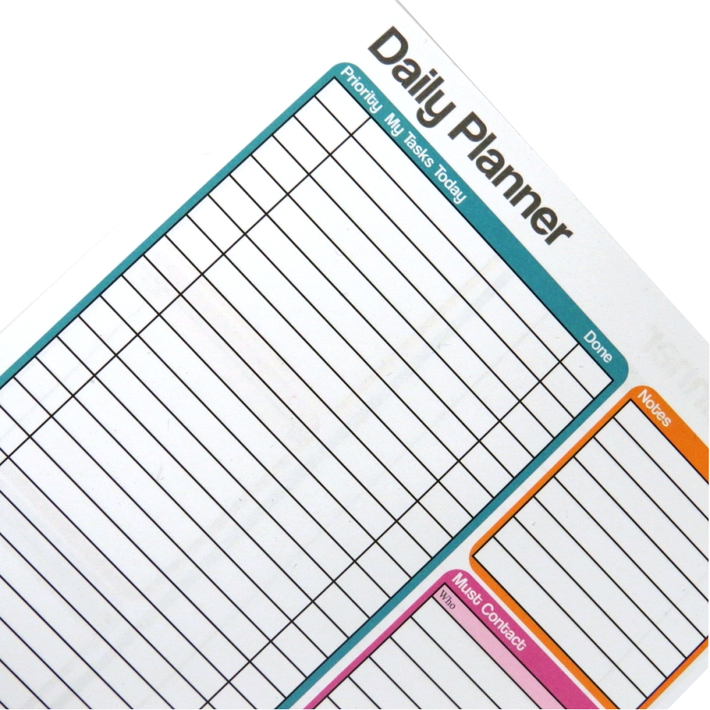 A5 Daily Planner Notepad – Double Sided