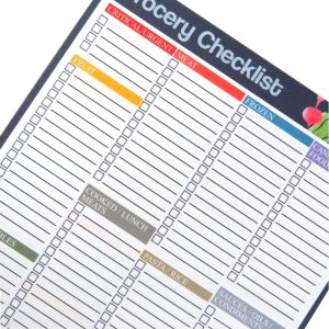 A5 Grocery / Food Shopping Organiser Notepad
