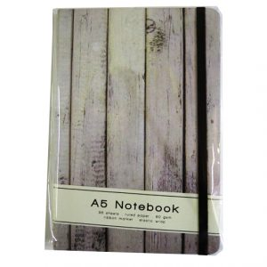 A5 Casebound Notebook - Old Wood Design