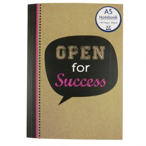 A5 Notebook - Krafty Slogans Open for Success
