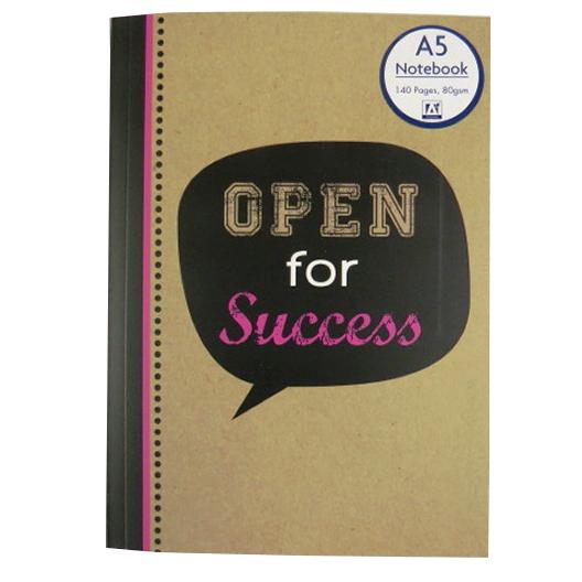 A5 Notebook - Krafty Slogans Open for Success