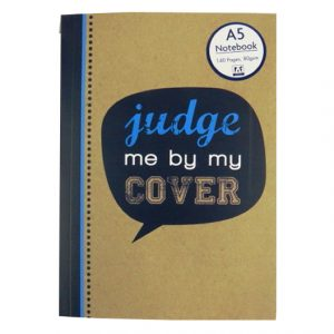 A5 Notebook - Krafty Slogans Judge me by my Cover